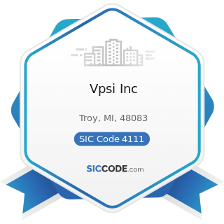 Vpsi Inc - SIC Code 4111 - Local and Suburban Transit