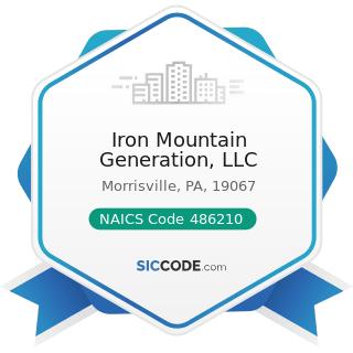 Iron Mountain Generation, LLC - NAICS Code 486210 - Pipeline Transportation of Natural Gas