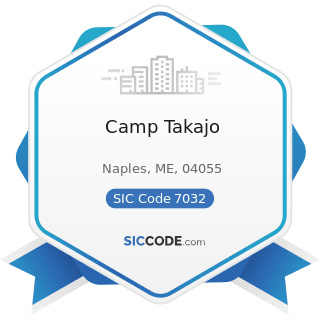 Camp Takajo - SIC Code 7032 - Sporting and Recreational Camps