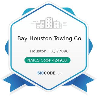 Bay Houston Towing Co - NAICS Code 424910 - Farm Supplies Merchant Wholesalers
