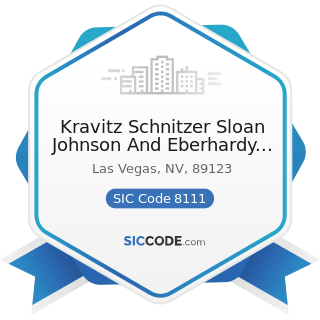 Kravitz Schnitzer Sloan Johnson And Eberhardy Chartered - SIC Code 8111 - Legal Services