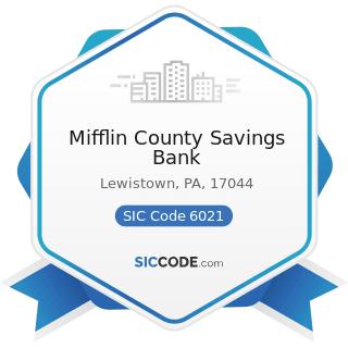 Mifflin County Savings Bank - SIC Code 6021 - National Commercial Banks
