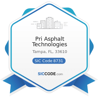 Pri Asphalt Technologies - SIC Code 8731 - Commercial Physical and Biological Research