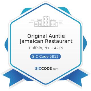 Original Auntie Jamaican Restaurant - SIC Code 5812 - Eating Places