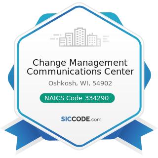 Change Management Communications Center - NAICS Code 334290 - Other Communications Equipment...