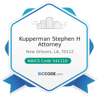 Kupperman Stephen H Attorney - NAICS Code 541110 - Offices of Lawyers