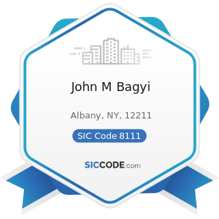 John M Bagyi - SIC Code 8111 - Legal Services