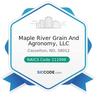 Maple River Grain And Agronomy, LLC - NAICS Code 111998 - All Other Miscellaneous Crop Farming