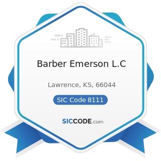 Barber Emerson L.C - SIC Code 8111 - Legal Services