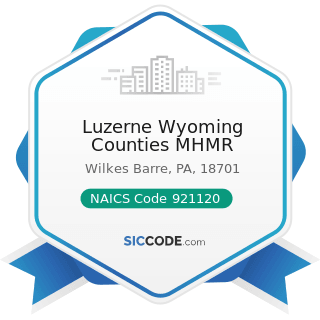 Luzerne Wyoming Counties MHMR - NAICS Code 921120 - Legislative Bodies