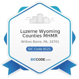 Luzerne Wyoming Counties MHMR - SIC Code 9121 - Legislative Bodies