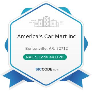 America's Car Mart Inc - NAICS Code 441120 - Used Car Dealers