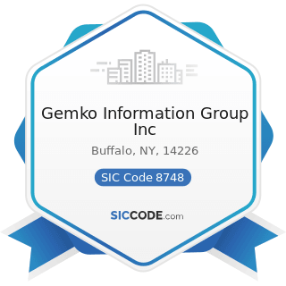 Gemko Information Group Inc - SIC Code 8748 - Business Consulting Services, Not Elsewhere...