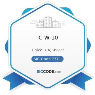 C W 10 - SIC Code 7311 - Advertising Agencies