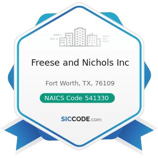Freese and Nichols Inc - NAICS Code 541330 - Engineering Services