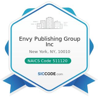Envy Publishing Group Inc - NAICS Code 511120 - Periodical Publishers