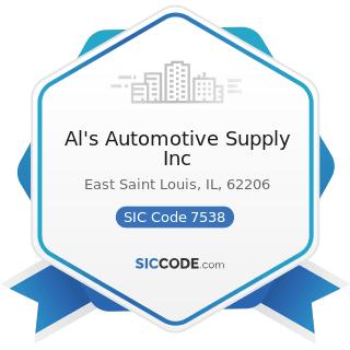 Al's Automotive Supply Inc - SIC Code 7538 - General Automotive Repair Shops