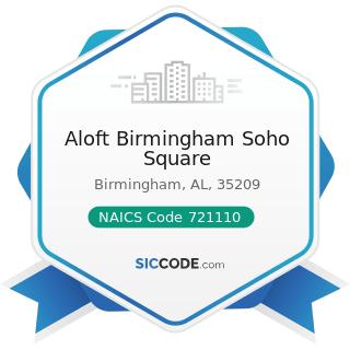 Aloft Birmingham Soho Square - NAICS Code 721110 - Hotels (except Casino Hotels) and Motels