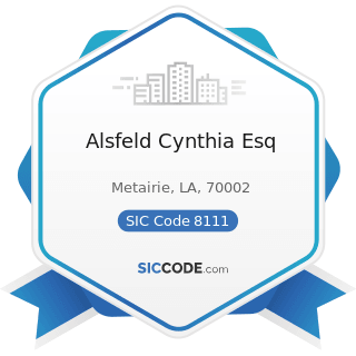 Alsfeld Cynthia Esq - SIC Code 8111 - Legal Services