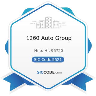 1260 Auto Group - SIC Code 5521 - Motor Vehicle Dealers (Used Only)