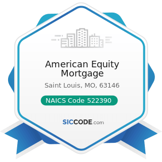 American Equity Mortgage - NAICS Code 522390 - Other Activities Related to Credit Intermediation