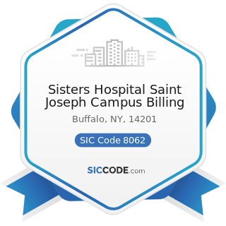 Sisters Hospital Saint Joseph Campus Billing - SIC Code 8062 - General Medical and Surgical...