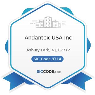 Andantex USA Inc - SIC Code 3714 - Motor Vehicle Parts and Accessories