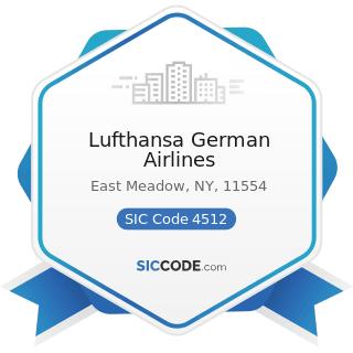Lufthansa German Airlines - SIC Code 4512 - Air Transportation, Scheduled