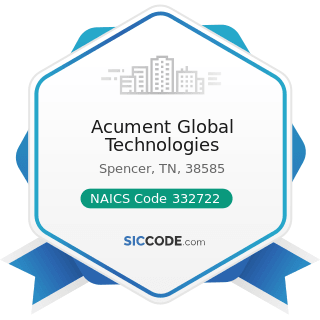 Acument Global Technologies - NAICS Code 332722 - Bolt, Nut, Screw, Rivet, and Washer...
