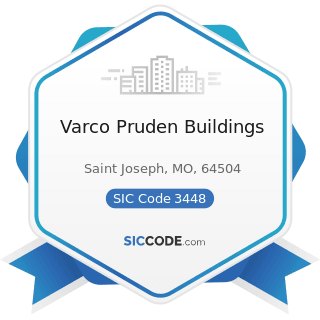 Varco Pruden Buildings - SIC Code 3448 - Prefabricated Metal Buildings and Components