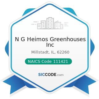 N G Heimos Greenhouses Inc - NAICS Code 111421 - Nursery and Tree Production