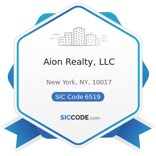Aion Realty, LLC - SIC Code 6519 - Lessors of Real Property, Not Elsewhere Classified