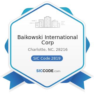 Baikowski International Corp - SIC Code 2819 - Industrial Inorganic Chemicals, Not Elsewhere...