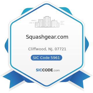 Squashgear.com - SIC Code 5961 - Catalog and Mail-Order Houses