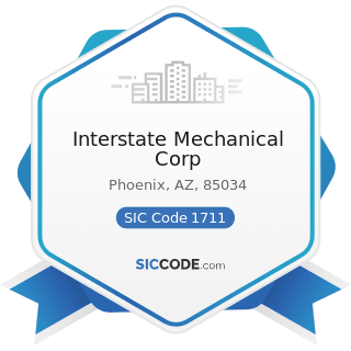 Interstate Mechanical Corp - SIC Code 1711 - Plumbing, Heating and Air-Conditioning