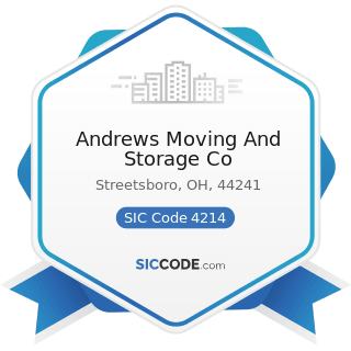 Andrews Moving And Storage Co - SIC Code 4214 - Local Trucking with Storage