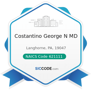 Costantino George N MD - NAICS Code 621111 - Offices of Physicians (except Mental Health...
