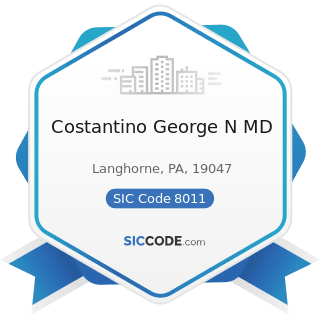 Costantino George N MD - SIC Code 8011 - Offices and Clinics of Doctors of Medicine
