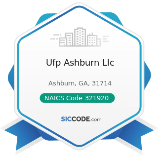 Ufp Ashburn Llc - NAICS Code 321920 - Wood Container and Pallet Manufacturing