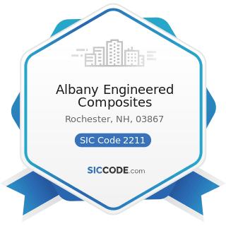 Albany Engineered Composites - SIC Code 2211 - Broadwoven Fabric Mills, Cotton