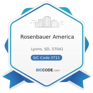 Rosenbauer America - SIC Code 3711 - Motor Vehicles and Passenger Car Bodies
