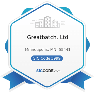 Greatbatch, Ltd - SIC Code 3999 - Manufacturing Industries, Not Elsewhere Classified