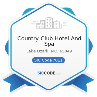 Country Club Hotel And Spa - SIC Code 7011 - Hotels and Motels