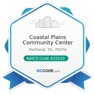 Coastal Plains Community Center - NAICS Code 622210 - Psychiatric and Substance Abuse Hospitals