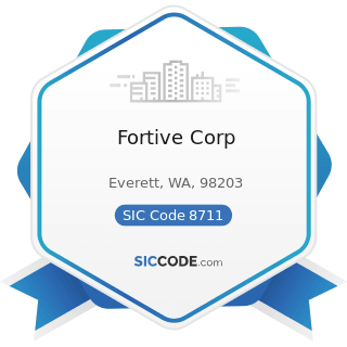 Fortive Corp - SIC Code 8711 - Engineering Services