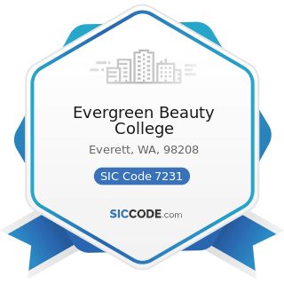 Evergreen Beauty College - SIC Code 7231 - Beauty Shops