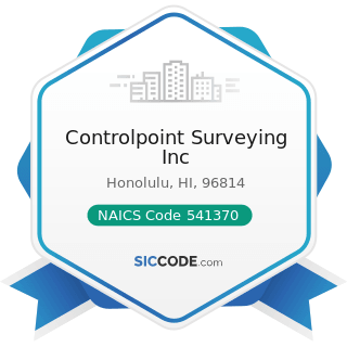 Controlpoint Surveying Inc - NAICS Code 541370 - Surveying and Mapping (except Geophysical)...
