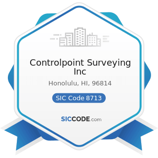 Controlpoint Surveying Inc - SIC Code 8713 - Surveying Services