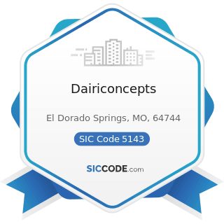 Dairiconcepts - SIC Code 5143 - Dairy Products, except Dried or Canned