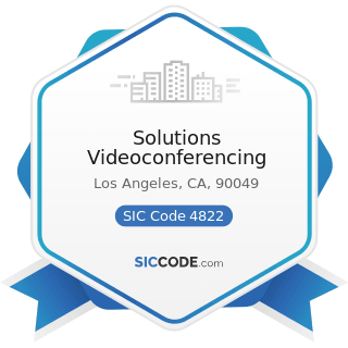 Solutions Videoconferencing - SIC Code 4822 - Telegraph and other Message Communications